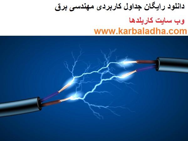 جداول کاربردی مهندسی برق- وب سایت کاربلدها