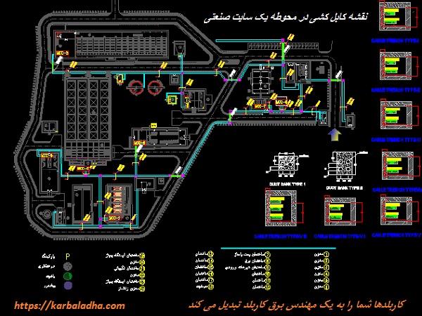 Cabling - نقشه های کابل کشی یک پلنت صنعتی - کاربلدها