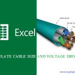 اکسل سایزینگ کابل و محاسبات افت ولتاژ