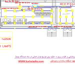 نقشه های روشنایی و سوکت ها و تابلو برق توزیع داخلی یک ایستگاه پمپاژ آب