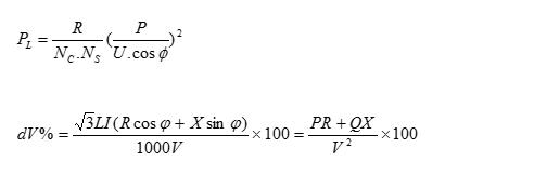فرمول محاسبات افت ولتاژ خط انتقال برق
